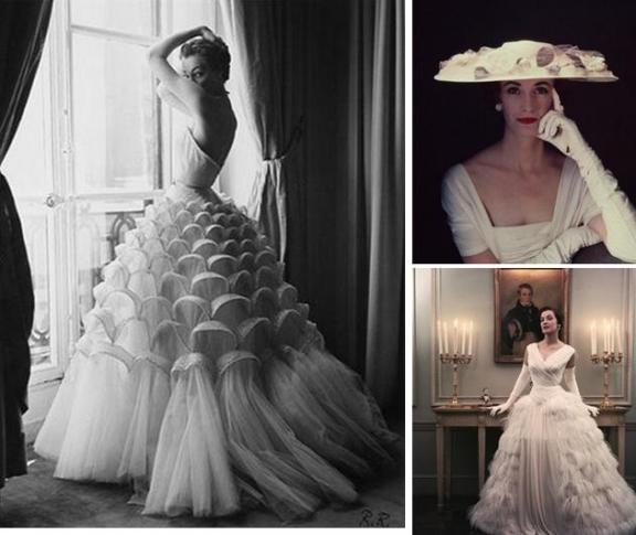 wedding dress 1950